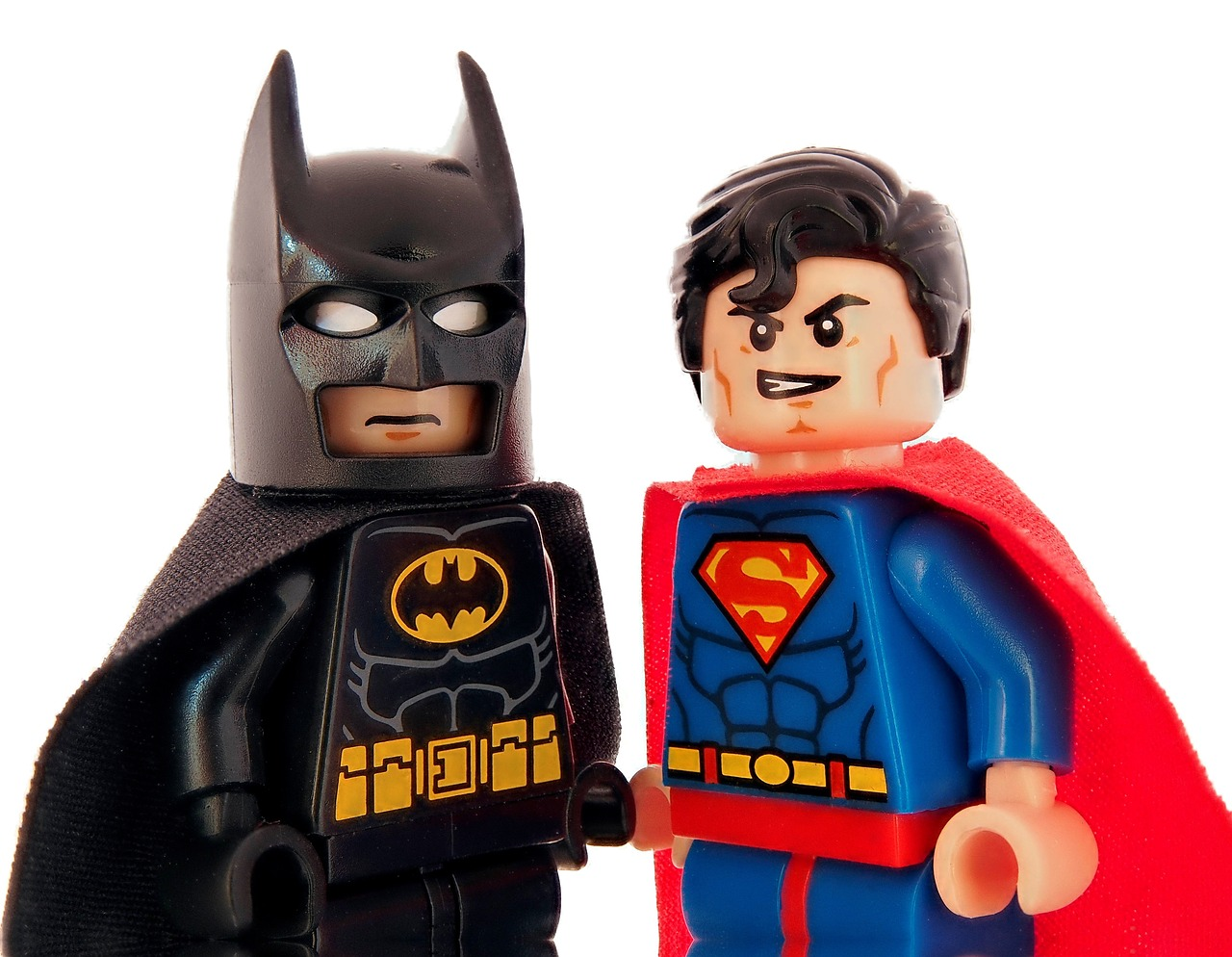 Lego Batman and lego Superman